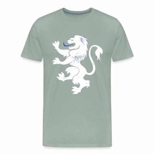 Proud Lion With Blue Accents - Men's Premium T-Shirt