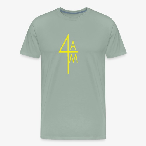Yellow 4AM Sec. Logo - Men's Premium T-Shirt