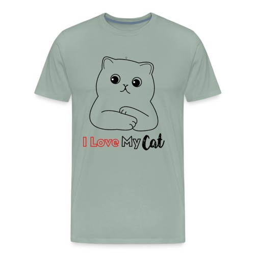 I Love My CatT-shirt Design Gifts For You - Men's Premium T-Shirt