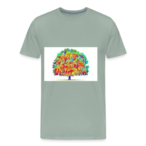 colorful tree - Men's Premium T-Shirt
