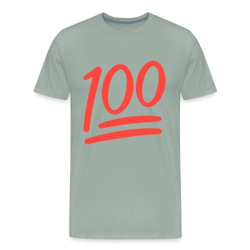 Fxemoji u1F4AF svg - Men's Premium T-Shirt