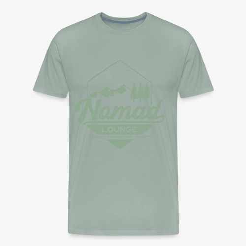 Nomad Hex (Green) - Men's Premium T-Shirt