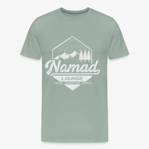 Nomad Hex (White) - Men's Premium T-Shirt