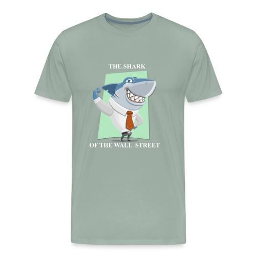 wall street shark - Men's Premium T-Shirt