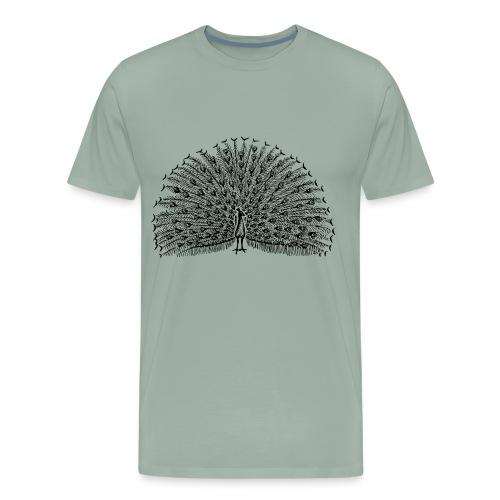 The beautiful peacock - Men's Premium T-Shirt