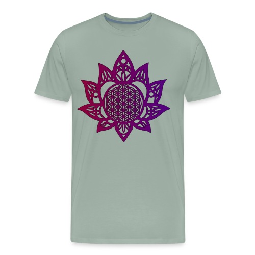 Flower of life beautiful - Men's Premium T-Shirt