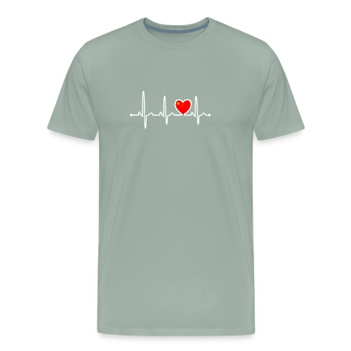 China Country Flag Heartbeat - Men's Premium T-Shirt