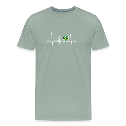Jamaica Country Flag Heartbeat - Men's Premium T-Shirt
