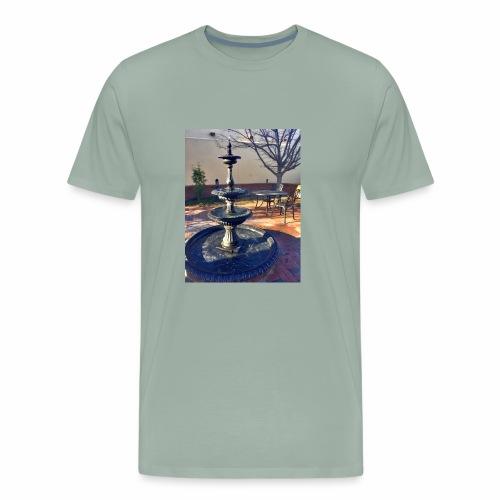 Fairytale Fountain Painting - Men's Premium T-Shirt