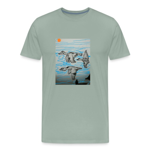 Birds in Formation - Men's Premium T-Shirt