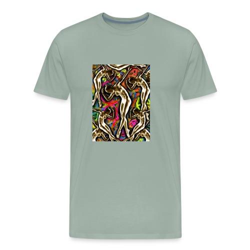 Woman In The Machine Frieze Color 1 - Men's Premium T-Shirt
