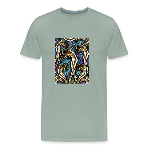 Woman In The Machine Frieze Color 2 - Men's Premium T-Shirt