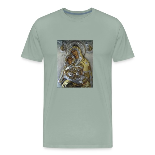 Mother Mary and Infant Jesus - Men's Premium T-Shirt