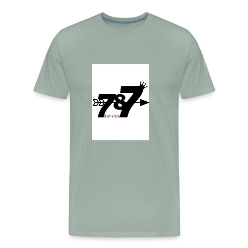 787 illustration - Men's Premium T-Shirt