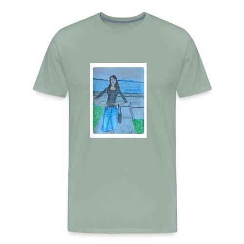 fashion illustration of the day - Men's Premium T-Shirt