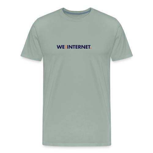 We the Internet Logo - Color Text - Men's Premium T-Shirt