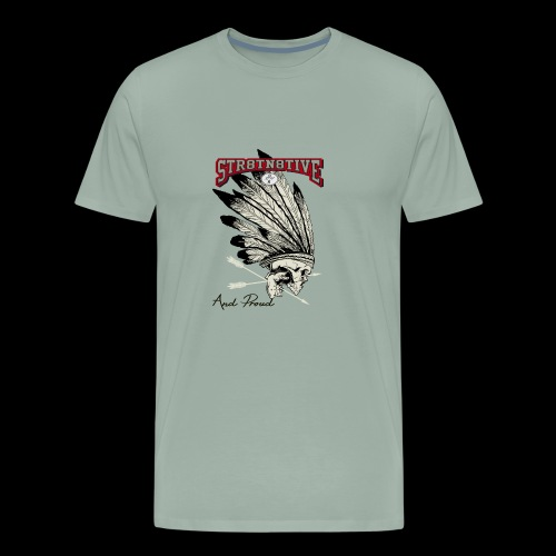 STRAIGHT NATIVE SKULL - Men's Premium T-Shirt