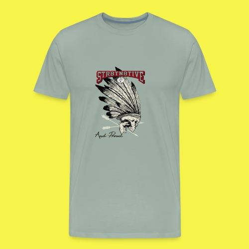 STRAIGHT NATIVE SKULL - Men's Premium T-Shirt