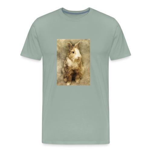 Rabbit portrait 1 - Men's Premium T-Shirt