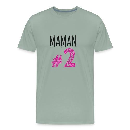 MAMAN # 2 - T-shirt premium pour hommes
