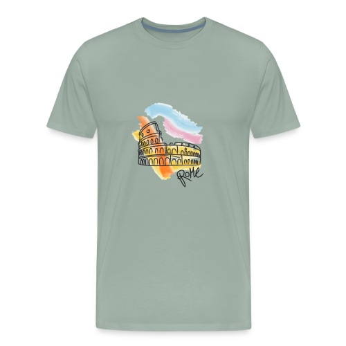 drawing Rome - Men's Premium T-Shirt