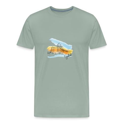 drawing England - Men's Premium T-Shirt