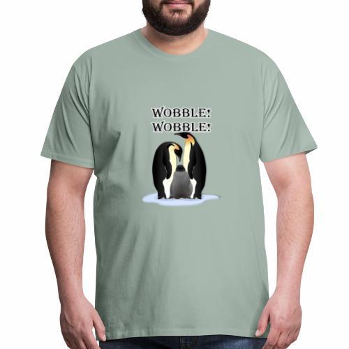 Wobbley Penguin - Men's Premium T-Shirt