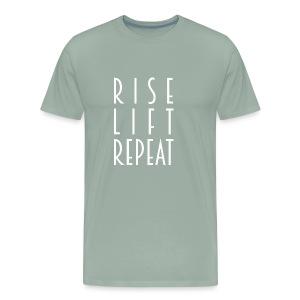 Rise, lift and repeat - Men's Premium T-Shirt