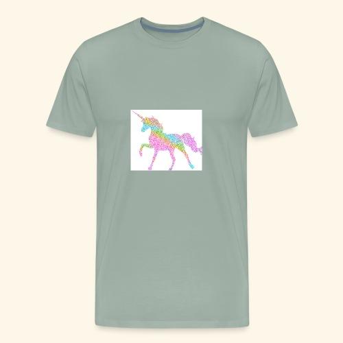 Cool Merch here by me it's unicorns - Men's Premium T-Shirt