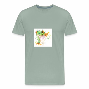 funny frog t shirt graphics frog illustration spl - Men's Premium T-Shirt