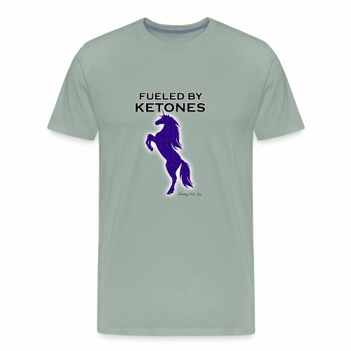 FUELED BY KETONES INDIGO SPECKLED UNICORN - Men's Premium T-Shirt