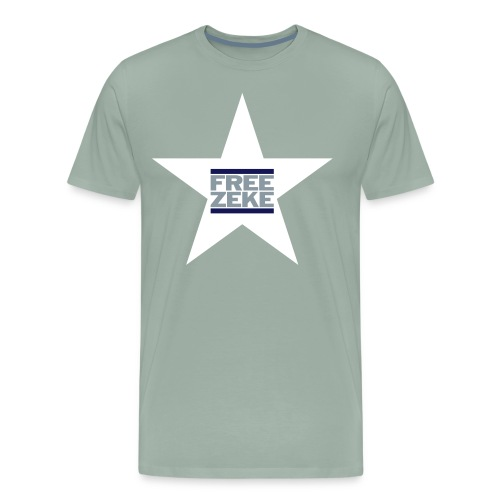 FREE ZEKE - White Star - Men's Premium T-Shirt
