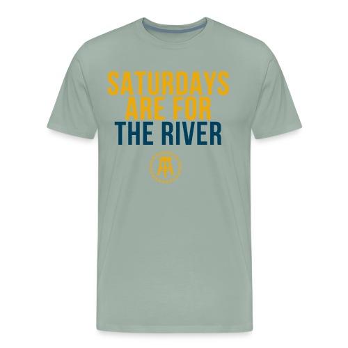 bluefontyellow - Men's Premium T-Shirt