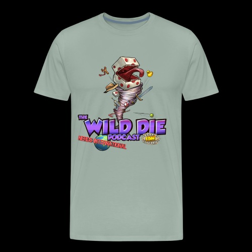 The Wild Die Podcast with N-I logo - Men's Premium T-Shirt