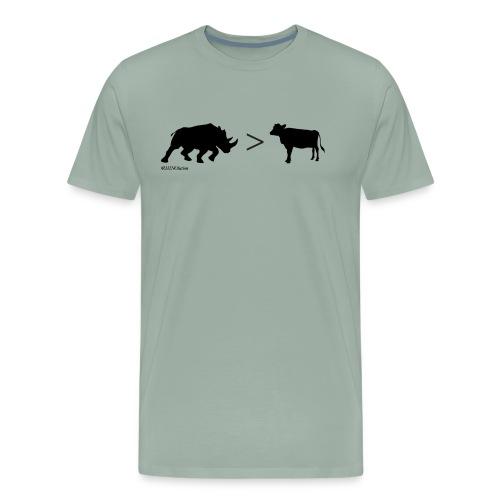RhinoGTCow BlackTransparent - Men's Premium T-Shirt