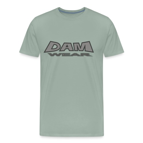 BIG DAM GREY BLACK TEXT 4X4 - Men's Premium T-Shirt