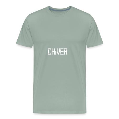 C(S)HiVER White logo - Men's Premium T-Shirt
