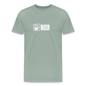 beer funny tshirt - Men's Premium T-Shirt
