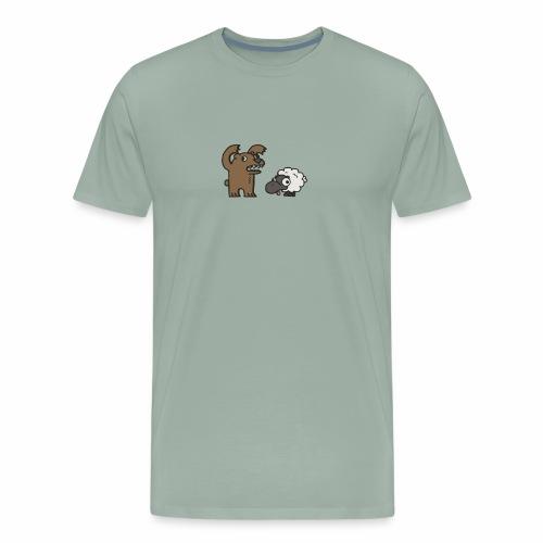 Barr and Sheep funny tshirt - Men's Premium T-Shirt