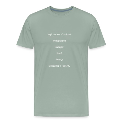 High School (White Text) - Men's Premium T-Shirt