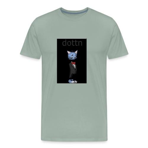 dottn black bkg - Men's Premium T-Shirt