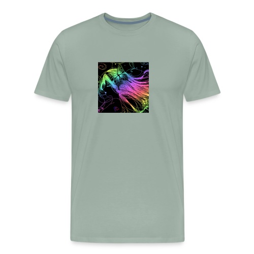 Multi colored rainbow sketched merch - Men's Premium T-Shirt