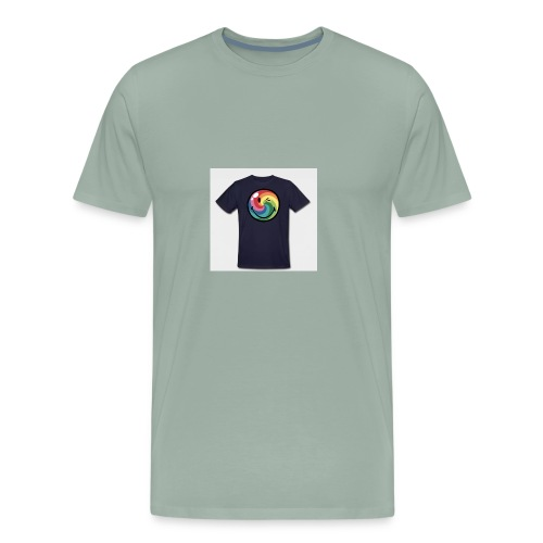 winking smile - Men's Premium T-Shirt