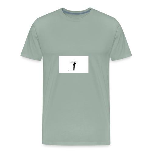 463034 men simple background digital art graffiti - Men's Premium T-Shirt