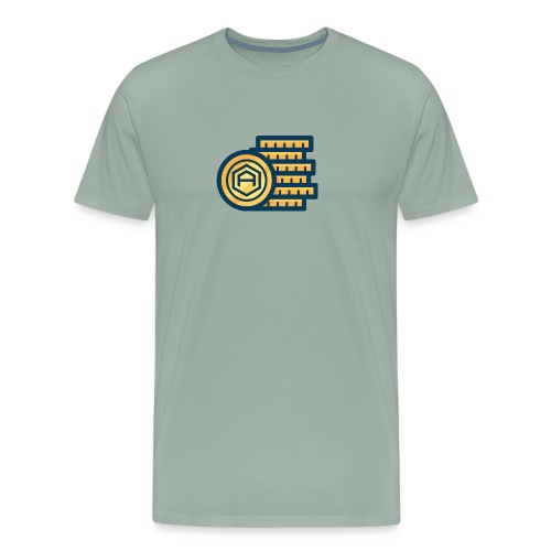 AriseCoin - Stack of Coins - Men's Premium T-Shirt