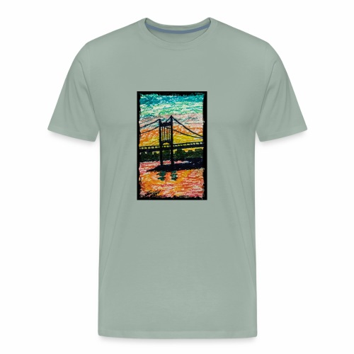 New York Bridge - Men's Premium T-Shirt