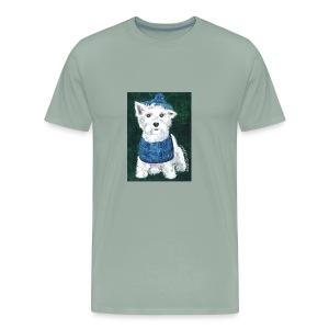 Laddie my Westie a Westie Highland White Terrier - Men's Premium T-Shirt