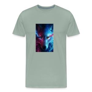 Wolf 44f62aed 5d06 3524 b855 47d7281f9ffb - Men's Premium T-Shirt