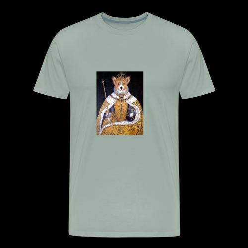 queens of corgi - Men's Premium T-Shirt