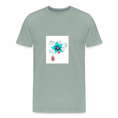 Flowerful Pillow - Men's Premium T-Shirt